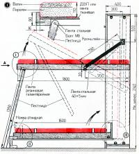 Размеры и схема складывания кровати
