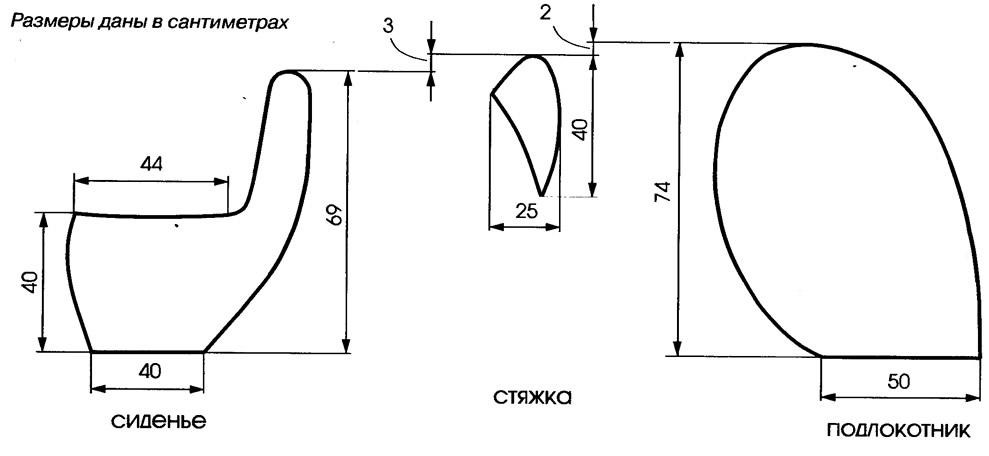 Как сделать выкройку для сиденья 390