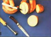 Разрезать картофель