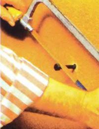 Рис. 10. Подготовка шурупов в стене