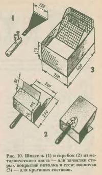 Рис. 10. Шпатель и скребок из металлического листа