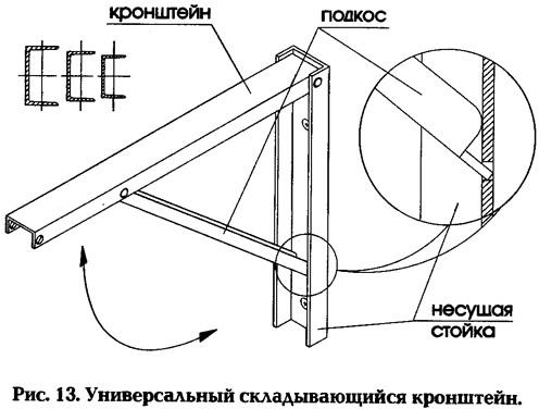 Рис. 13. Универсальный складывающийся кронштейн