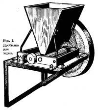 Рис. 1. Дробилка для зерна