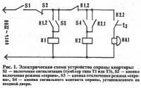 Рис. 1. Электрическая схема устройства охраны квартиры