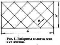 Рис. 1. Габариты полотна сети и ее ячейки