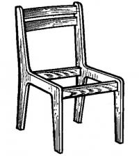 Рис. 1. Каркас плоскоклееного стула