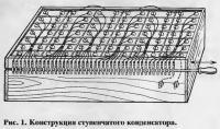 Рис. 1. Конструкция ступенчатого конденсатора