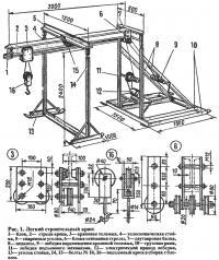 Рис. 1. Легкий строительный кран