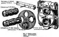 Рис. 1. Общая компоновка фотоаппарата «Победа»