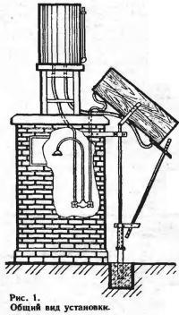 Рис. 1. Общий вид водонагревательной установки