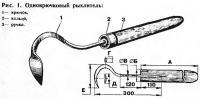 Рис. 1. Однокрючковый рыхлитель