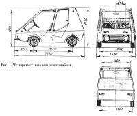 Рис. 1. Размеры автомобиля