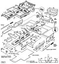 Рис. 1. Размеры и схема монтажа рамы