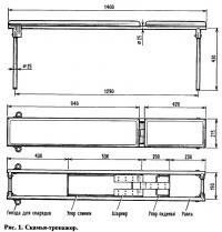 Рис. 1. Скамья-тренажер