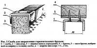Рис. 1 Скоба для закрепления горизонтальных брусьев
