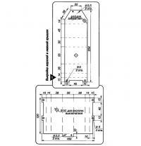 Рис. 1. Выкройка верхней и нижней крышки