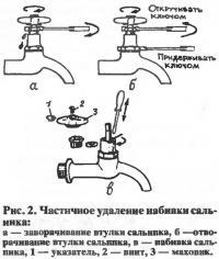 Рис. 2. Частичное удаление набивки сальника