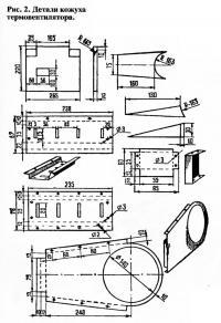 Рис. 2. Детали кожуха термовентилятора