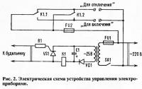 Рис. 2. Электрическая схема устройства управления электроприборами