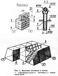 Рис. 2. Фрагмент лестницы и кухни