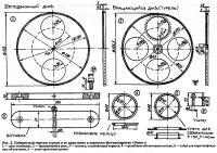 Рис. 2. Габаритный чертеж турели и ее крепления к корпусам фотоаппаратов «Зенит»
