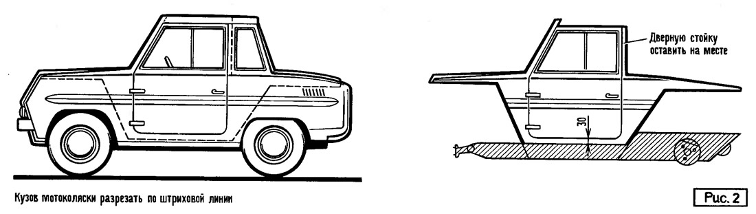 Кабина от мотоколяски