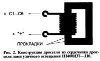 Рис. 2. Конструкция дросселя