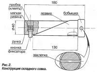 Рис. 2. Конструкция складного совка