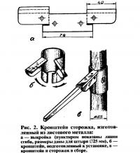Рис. 2. Кронштейн сторожка из листового металла
