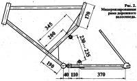 Рис. 2. Модернизировавши рама дорожного велосипеда