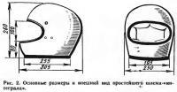 Рис. 2. Основные размеры и внешний вид простейшего шлема-«интеграла»