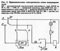 Рис. 2. Принципиальная электрическая схема водонагревателя