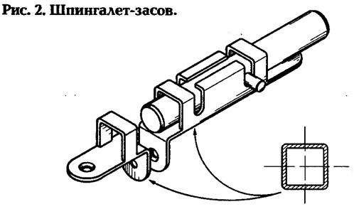 Рис. 2. Шпингалет-засов