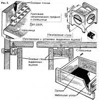 Рис. 2. Стулья и выдвижные ящики