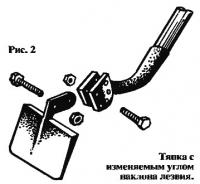 Рис. 2. Тяпка с изменяемым углом наклона лезвия