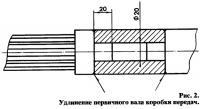 Рис. 2. Удлинение первичного вала коробки передач