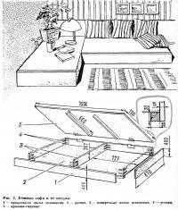 Рис. 2. Угловая софа и ее модуль