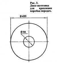 Рис. 3. Диск-заготовка для крепления коробки передач