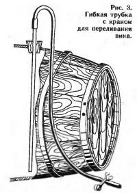 Рис. 3. Гибкая трубка с краном для переливания вина