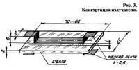 Рис. 3. Конструкция излучателя