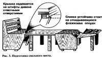 Рис. 3. Подготовка спального места