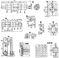 Рис. 3. Размеры основных деталей (описание на рис. 1.)
