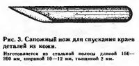 Рис. 3. Сапожный нож для спускания краев деталей из кожи