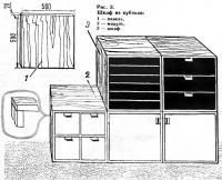 Рис. 3. Шкаф из кубиков