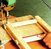 Рис. 3. Сверление отверстий в точках пересечения деталей