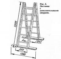 Рис. 4. Лестница с дополнительными опорами