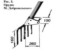 Рис. 4. Лопата М. Добровольского