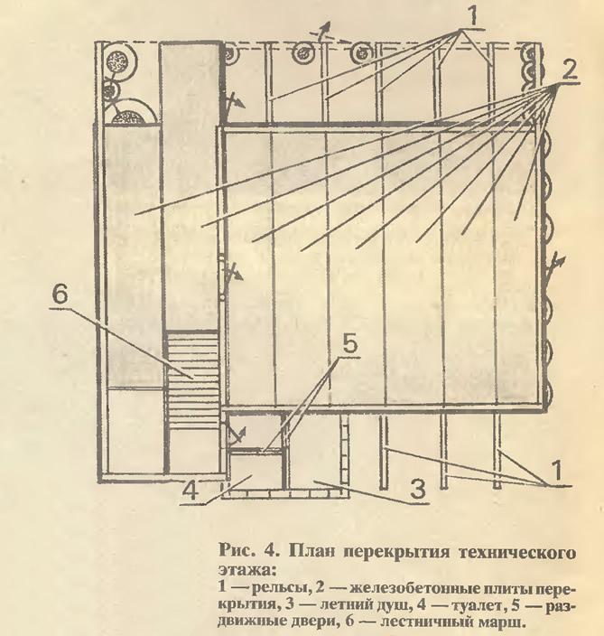 Рис. 4. План перекрытия технического этажа