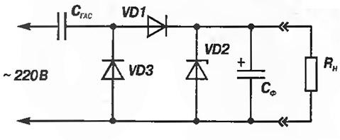 Рис. 4. Простейший однополупериодный БТБП