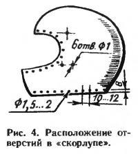 Рис. 4. Расположение отверстий в «скорлупе»